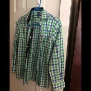 NWOT English Laundry Checkered Boy's  Cotton Shirt